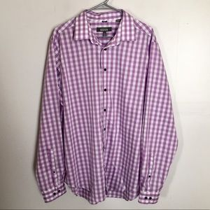 Kenneth Cole Reaction Dress Shirt Size XL 17 17.5